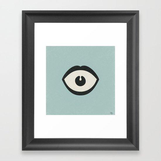 Eye Scream Framed Art Print