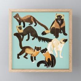 Martens of the World 2 Framed Mini Art Print