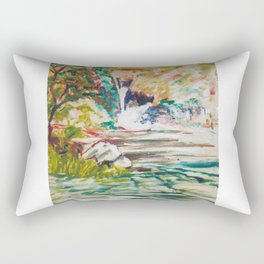Source of the NILE             by Kay Lipton Rectangular Pillow