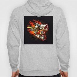 Fish skeleton flame Hoody