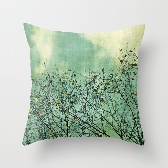 Green Nature vintage Throw Pillow