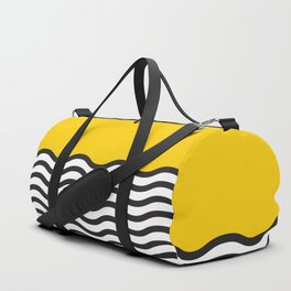 Waves of Yellow Duffle Bag