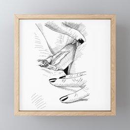 Girls Love Framed Mini Art Print
