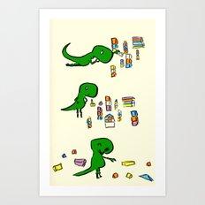 Tim the T Rex Art Print