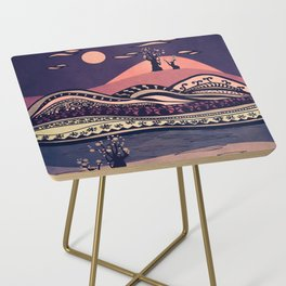 Psychedelic mountains (colour option) Side Table
