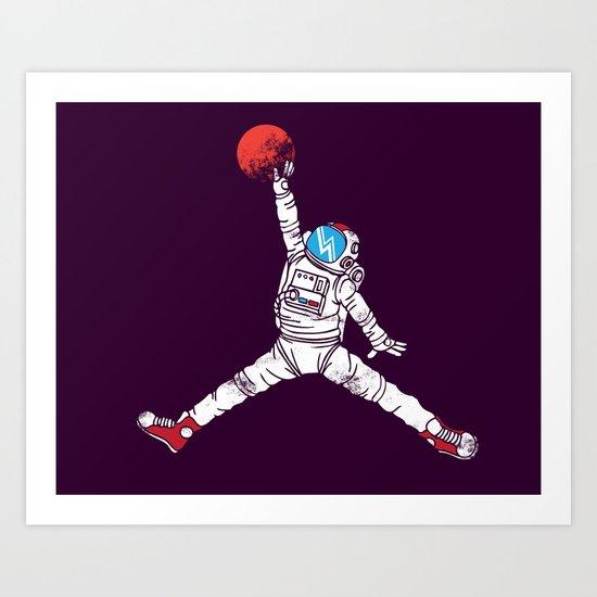 space dunk (purple ver.) Art Print