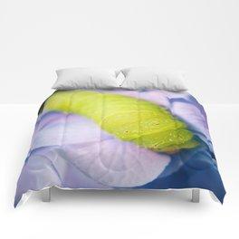 Actias Luna Larva on Hydrangea Nature Photo Comforters