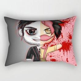 Dark Warfstache Rectangular Pillow
