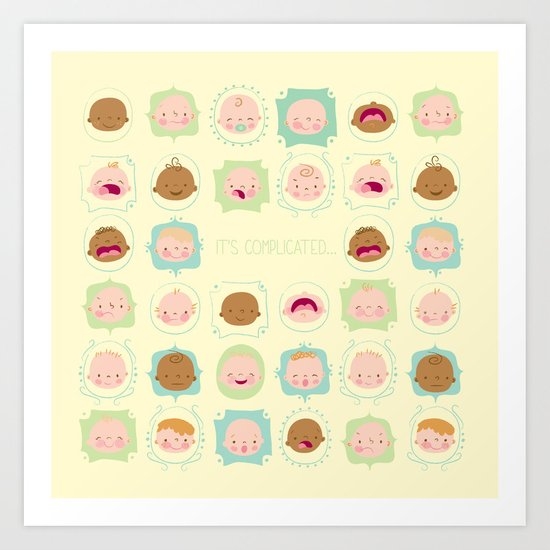 baby, it's complicated... Art Print
