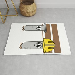 """""""Nail Engineers"""" tee design. Makes an adorable and cutie gift to your engineer friends and family!  Rug"""