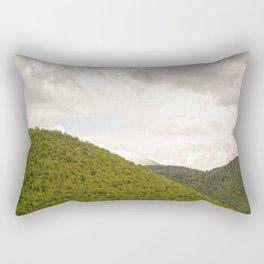 Dramatic summer mountain cloudscape Rectangular Pillow