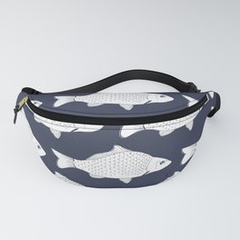 Fish In Navy Blue Fanny Pack