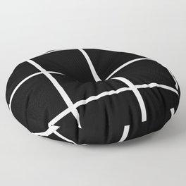 Big Grid Black Floor Pillow