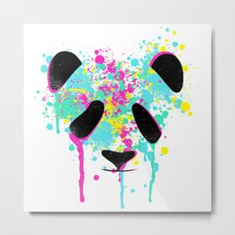 Panda Soul watercolour / watercolor animal t shirt, animal print t shirt, wildlife t shirt Metal Print