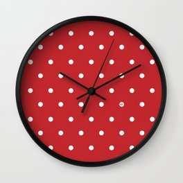 POLKA DOTS RED #minimal #art #design #kirovair #buyart #decor #home Wall Clock