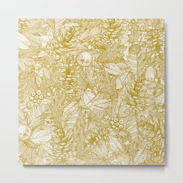 forest floor gold ivory Metal Print
