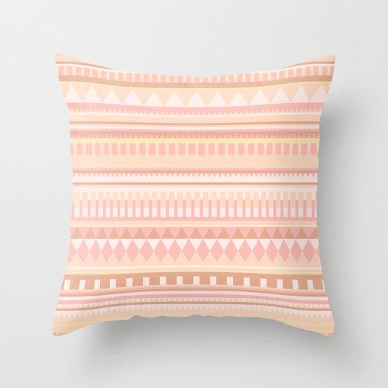 Peach Pattern Throw Pillow