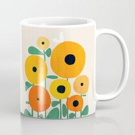Sunflower and Bee Coffee Mug