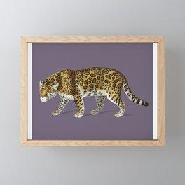 Fierce Jaguar Framed Mini Art Print