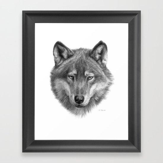Wolf face G084 Framed Art Print
