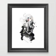 jap lace Framed Art Print