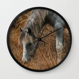 Wild Horses of The Long Mynd Wall Clock