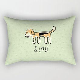 Cute Beagle Dog &joy Doodle Rectangular Pillow