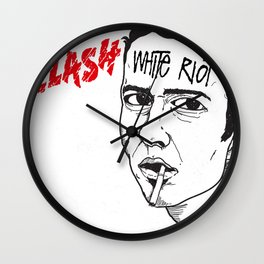 White Riot Wall Clock