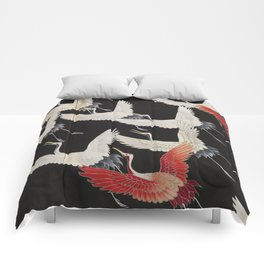 Furisode with a Myriad of Flying Cranes (Japan) Comforters