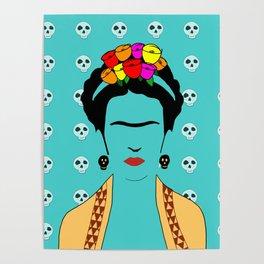 Frida Kahlo Flowers Poster