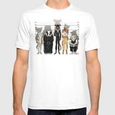 Unusual Suspects White MEDIUM Mens Fitted Tee