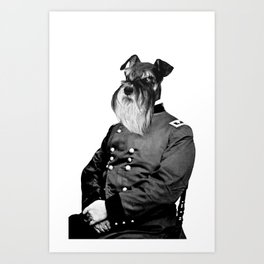 Civil War Schnauzer Art Print