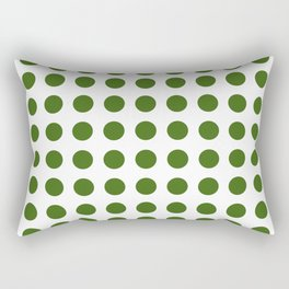 Simply Polka Dots in Jungle Green Rectangular Pillow
