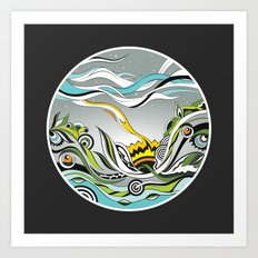 When the Earth meets the Sky Art Print