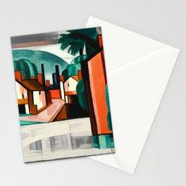 Oscar Bluemner - Old Canal Port, New Jersey Stationery Cards