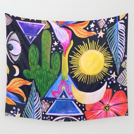 Cactus Sunrise Looking at You Wall Tapestry