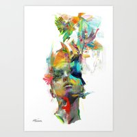 colour Art Prints featuring Dream Theory by Archan Nair