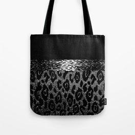 ANIMAL PRINT CHEETAH LEOPARD BLACK WHITE AND SILVERY GRAY Tote Bag