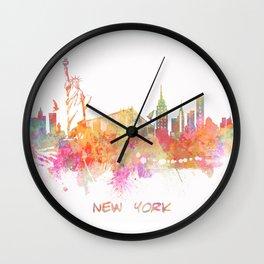 New York skyline Wall Clock