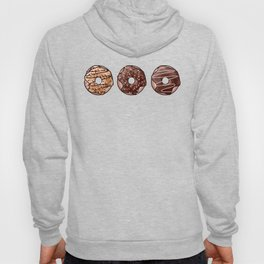 Chocolate Donuts Pattern Hoody