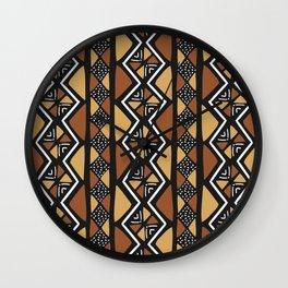 African mud cloth Mali Wall Clock