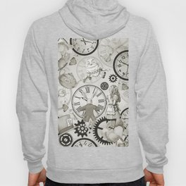 Wonderland Time - Vintage Black & White Hoody