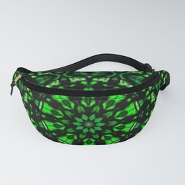 Green and Black Kaleidoscope Fanny Pack