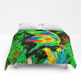 Retro Dolphin Comforters
