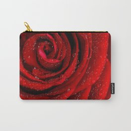 Red rose with sparkling droplets - Beautiful elegant Roses Carry-All Pouch