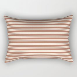 Sherwin Williams Cavern Clay Warm Terra Cotta SW 7701 Horizontal Line Patterns 1 on Creamy Off White Rectangular Pillow
