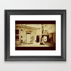 The last in the town Framed Art Print