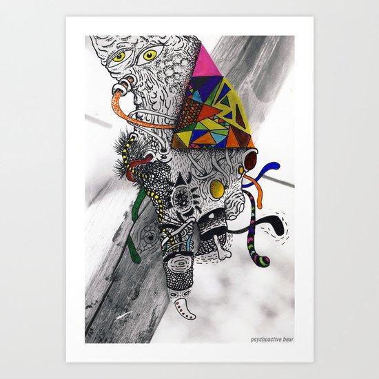 Psychoactive Bear 7 Art Print