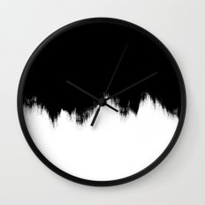 Black And White Abstract Art Wall Clock