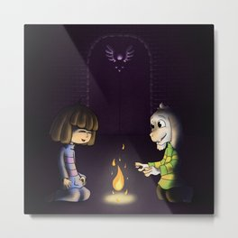 Frisk and Asriel Metal Print